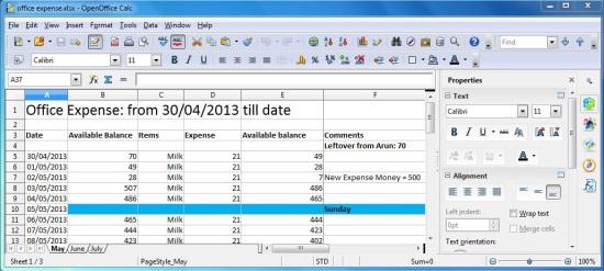 Apache OpenOffice - Calc