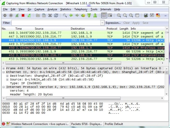 WireShark - Live Capture