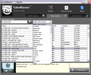 Built-In Video Search in TubeMaster Plus