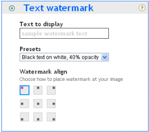 Apply Text Watermark to Images