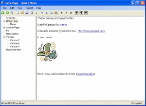 Download Linked Notes Free Personal Wiki Software