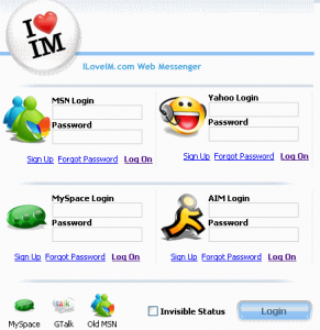 ILoveIM Web Based Messenger