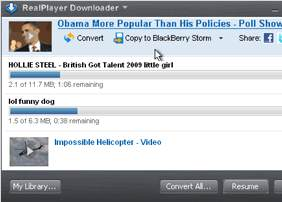 RealPlayer SP Download Youtube Videos