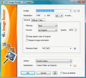 VSO Image Resizer - Reduce Size of Digital Photos