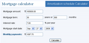 BankRate Free Amortization Schedule Calculator