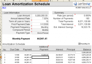 Download Excel Based Amortization Schedule Calculator Free