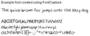 Fonts Created Using Handwriting