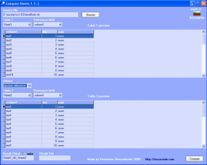 Freeware to Compare Excel Sheets