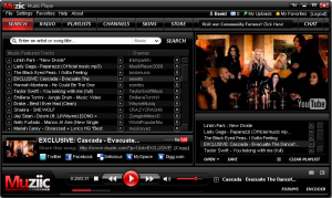 Muziic Media Player for YouTube videos