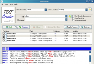Text Crawler Find and Replace Text in Multiple Files