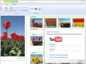 Windows Live Movie Maker Upload to YouTube