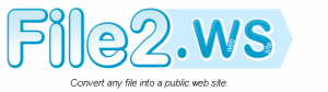 Convert File to Webpage file2ws