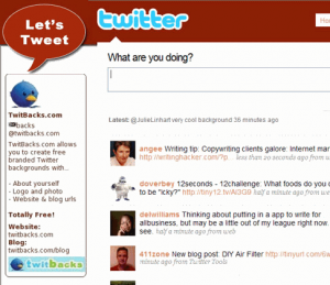 Create Free Twitter Background at TwitBacks