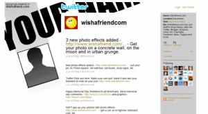 Free Twitter Background at WishAFriend
