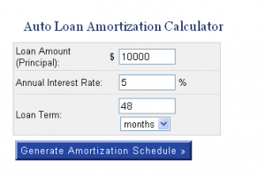 Generate Auto Amortization Schedule Free