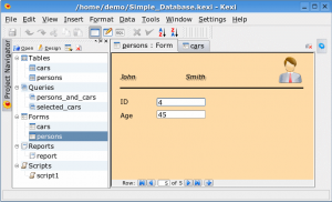 Kexi - Free Replacement for Microsoft Access