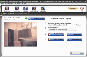 Record Webcam with Quick Media Converter