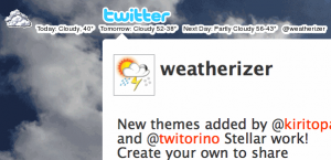 Self Changing Twitter Background at Weatherizer