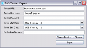 Take Export of your Tweets