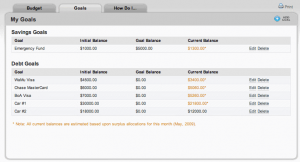Track your financial goals in BudgetSketch