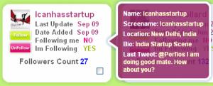 Tweepular - Details of Twitter user