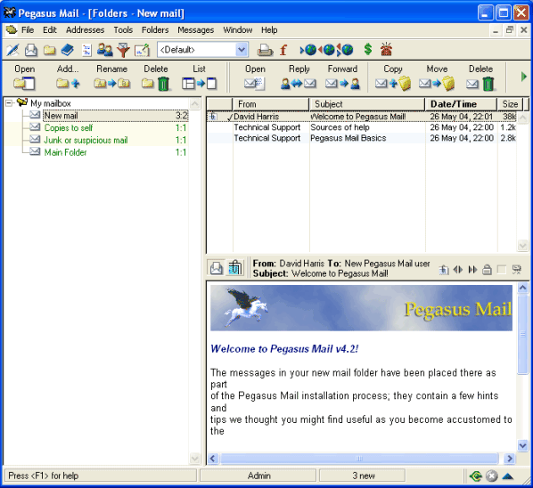 Download Pegasus Mail Client Free