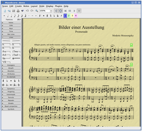 MuseScore Free Music Notes Software