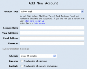 Setup New Account in Zimbra Desktop