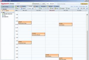 Sync Calendars in Zimbra Desktop