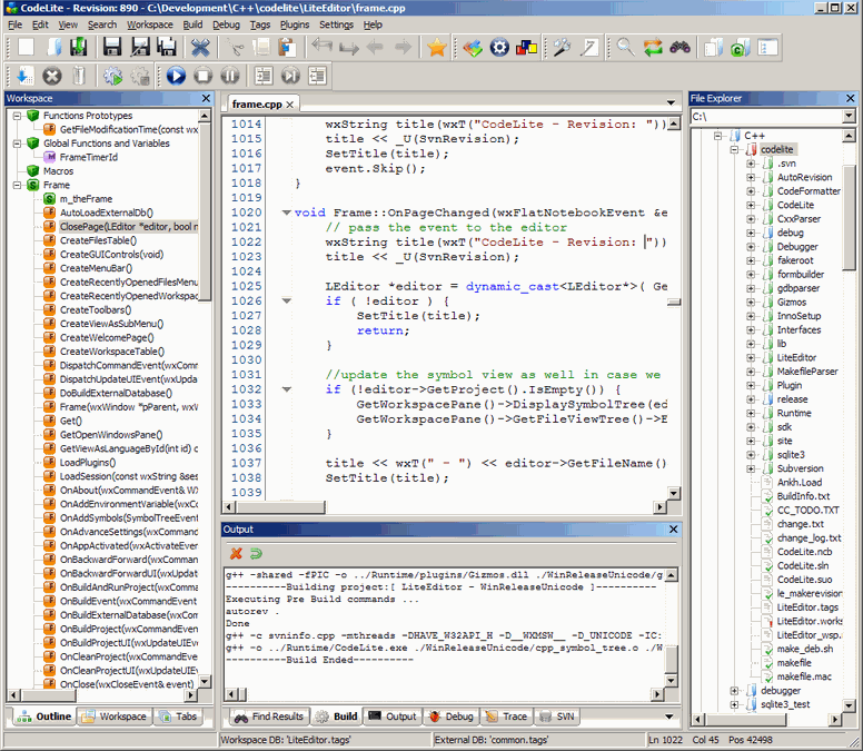 Download CodeLite: Free Open Source C/C++ IDE