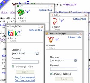 Webuzz Im Web based Instant Messenger