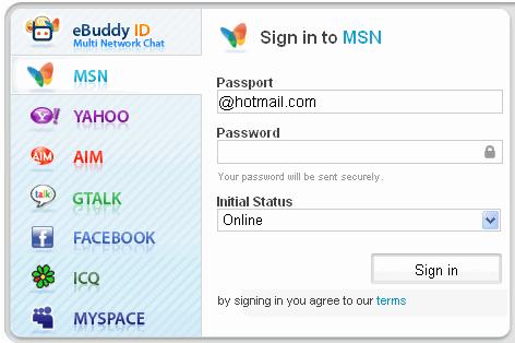 eBuddy - Web Based Instant Messenger