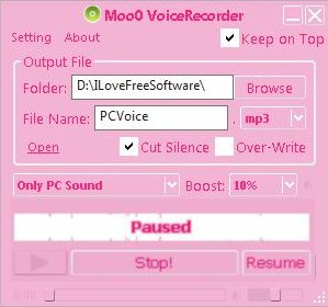 Free Software to Record your Voice: Moo0 Voice Recorder
