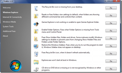 free software to fix windows 7 problems