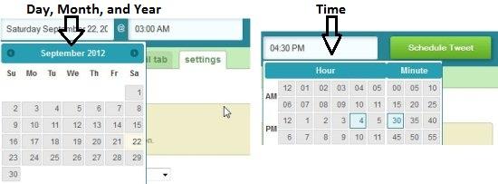 schedule tweets time