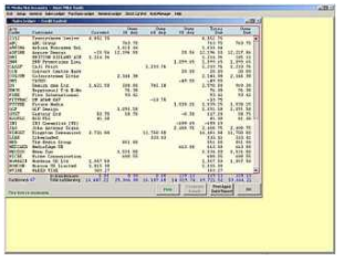 An example of a Cashbook in Adminsoft Freeware.