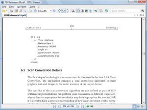 The very simple interface of STDU Viewer, showing some open documentation.