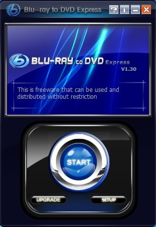 Blu-ray to DVD Express - Interface