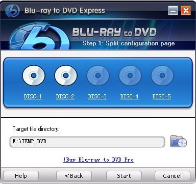 Blu-ray to DVD Express - Source Disk