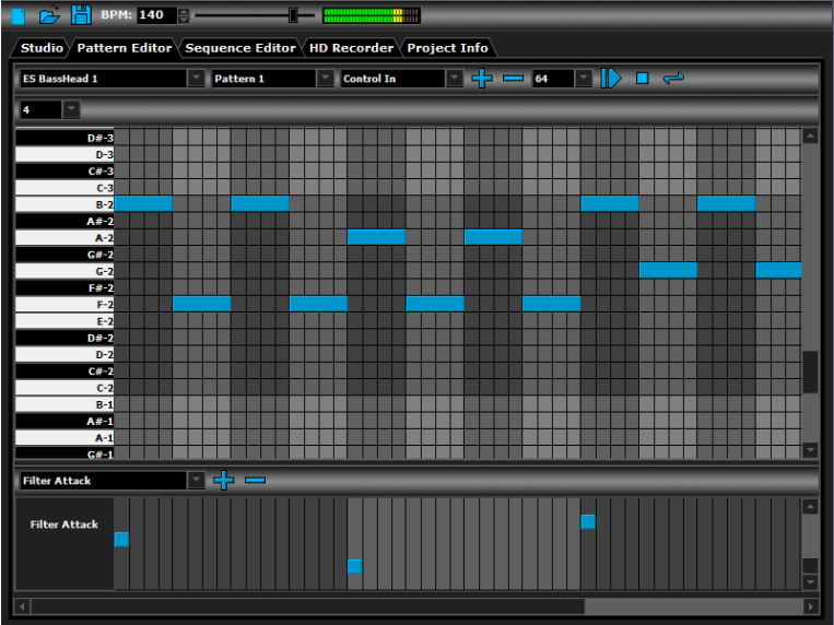 A screenshot of the DarkWave Studio interface.