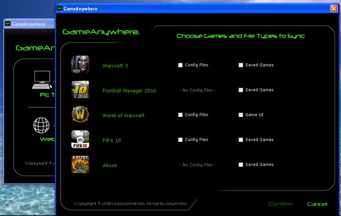 The auto-detection feature in GameAnywhere.
