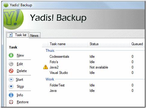 Yadis Backup