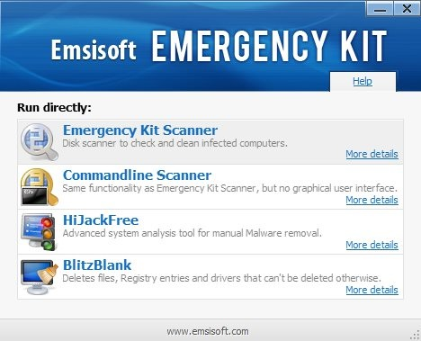 Emsisoft Emergency Kit - Interface
