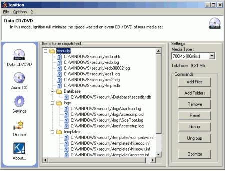 Ignition CD Burning Optimizer