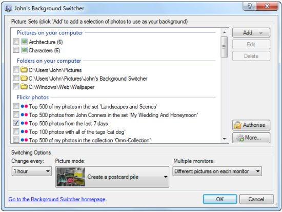 John Background Switcher