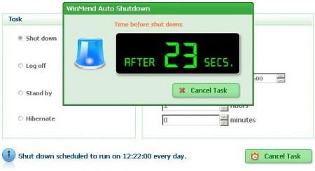 WinMend Auto Shutdown Freeware
