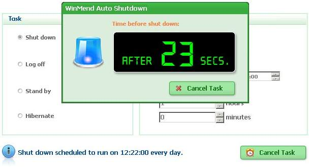 WinMend Auto Shutdown Freeware