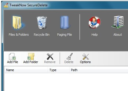 Tweaknow SecureDelete