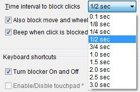 touchpad timings