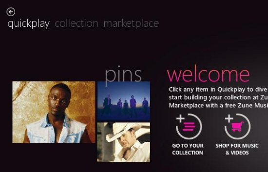 zune welcome